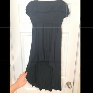 Black ruffled high-low strapless dress from Target